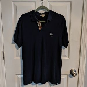 Burberry Navy Blue Polo shirt